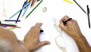 Atelier Xavier Gonzalvez tejidos italianos de máxima calidad, selección de sedas y lanas inglesas.